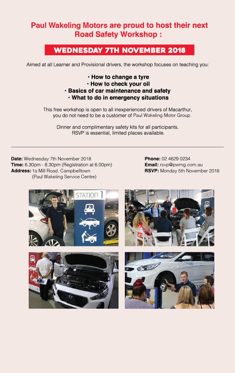 Road Safety Workshop - Paul Wakeling Volkswagen